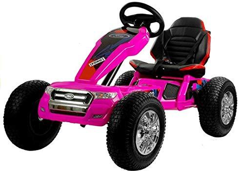 fit4form Kinder Elektro Go-Kart Ford Ranger pink Elektrisches Kinderfahrzeug Kinderauto Gokart
