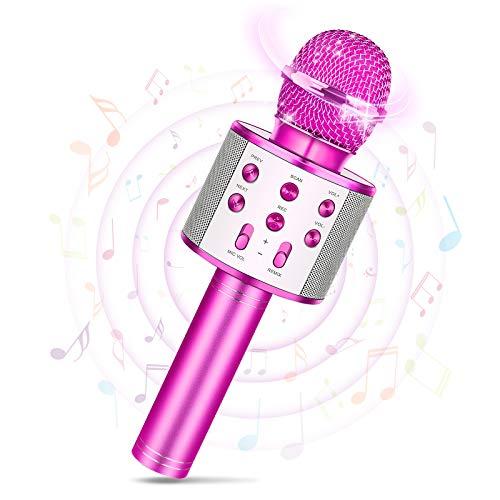 Tesoyzii Mädchen Geschenke 8 5 12 10 11 4 6 7 9 Jahre, Mikrofon Kinder Spielzeug Mädchen 4 6 7 10 5 8...