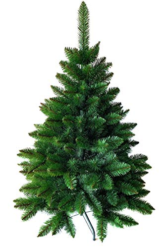 Weihnachtsbaum künstlich 120 cm – Dichte Zweige, einfacher Aufbau, Made in EU - Authentischer...