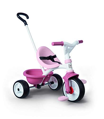 Smoby 740332 - Be Move rosa - Kinderdreirad mit Schubstange, Sitz mit Sicherheitsgurt, Metallrahmen,...