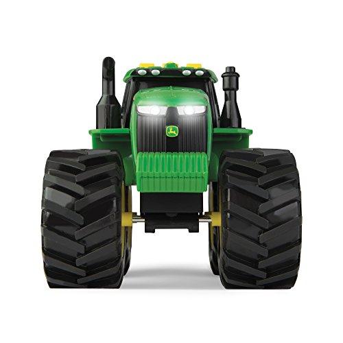 John Deere 46656 Traktor, Monster Treads mit Licht & Sound in Grün, Spielzeug Traktor mit Licht und...