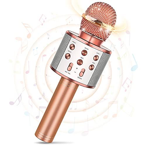 Tesoyzii Mikrofon Kinder, Geschenk Junge 4-14 Jahre Spielzeug Mädchen 4-14 Jahre Karaoke Mikrofon Kinder...