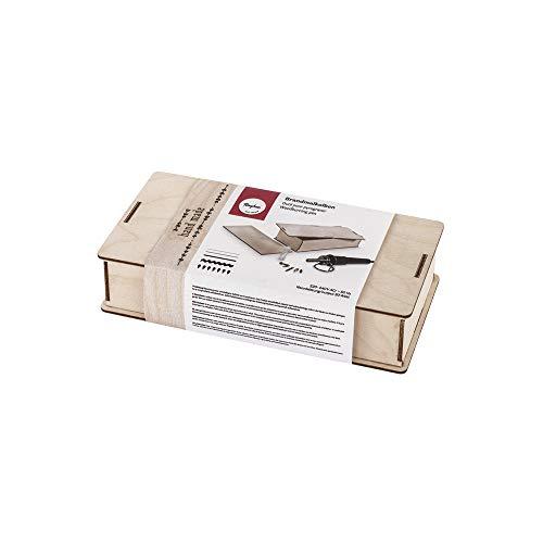 Rayher 89366000 Brandmalkolben in Holzbox, kleiner, handlicher Brennstab für Brandmalerei auf Holz, Kork...