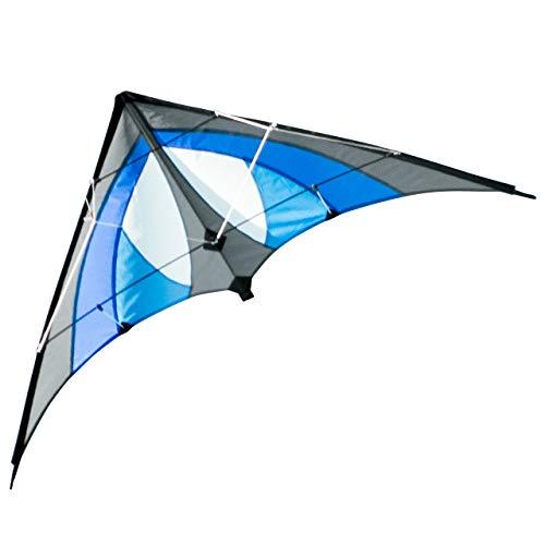 CIM Lenkdrachen - Shuriken MUSTHAVE Blue Sky - Drachen für Kinder ab 8 Jahren - 120x60cm - inklusiv...