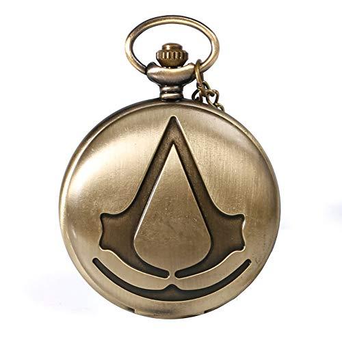 Steampunk Taschenuhr Assassin 's Film Analog Quarz Taschenuhr für Herren Halskette Taschenuhr Geschenk...