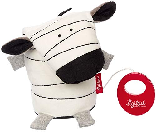 sigikid, Mädchen und Jungen, Spieluhr, Zebra, Urban Baby, Weiß/Schwarz, 42271