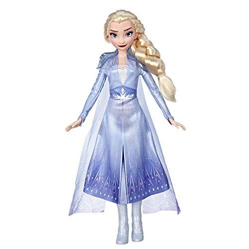 Hasbro Disney Die Eiskönigin II ELSA Puppe mit langem blondem Haar und blauem Outfit E6709ES0