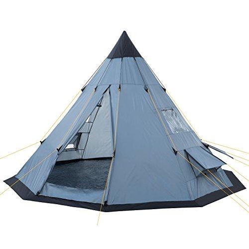 CampFeuer Tipi Zelt Spirit für 4 Personen | Firstzelt | 3.000 mm Wassersäule | Indianerzelt für...