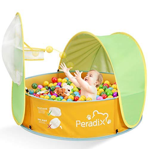 Peradix Planschbecken, Baby Zelt Pop Up Bällepool mit Sonnenschutz UV-Schutz,tragbare Kinder Spielzelt...