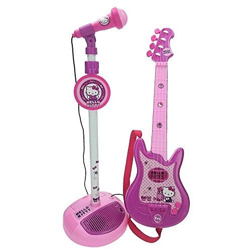Hello Kitty Gitarre mit Standmikrofon