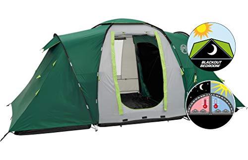 Coleman Spruce Falls 4 Zelt, 4 Personen Kuppelzelt mit nachtschwarzer Schlafkabine, 4 Mann Familienzelt,...