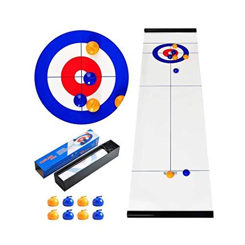 YYL Schnelles Sling Puck Spiel Tisch-Curling-Spiel Kompakte Curling-Familienspiele für Kinder und...