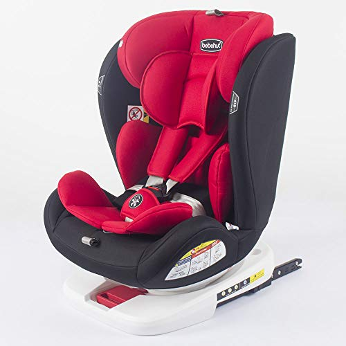 Baby Kindersitz Autokindersitz Gruppe 0+1/2/3 (0-36 kg/0-12 Jahre) mit ISOFIX ECE R44/04 TG19008-D01 ROT