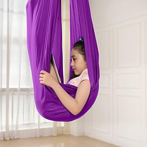 Kinder Schwingen Hängematte, Indoor Schaukel Elastisch Cuddle Hammock Sensory Swing Ideal für ADHS,...
