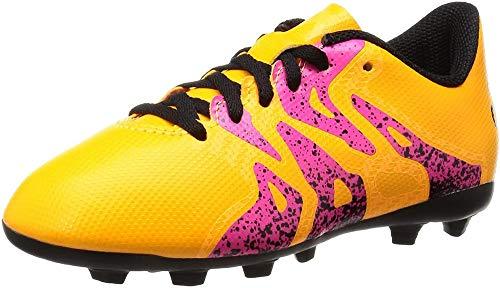 adidas Unisex-Kinder X 15.4 FG Junior Fußballschuhe, Orange (Solar Gold/Core Schwarz/Shock Pink), 35.5...