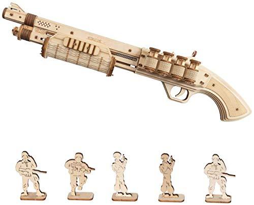 Robotime Terminator M870 3D Holzpuzzle Modellbausatz Erwachsene Spielzeugpistole - Mechanisches...