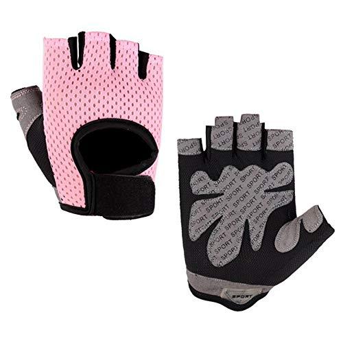 Kytpyi Kind Halb Finger Fahrradhandschuhe,1Paar Kinder Sport Handschuhe,Fingerlose Sporthandschuhe mit...