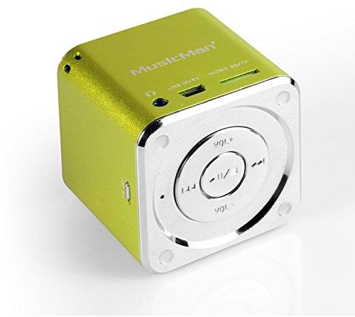 MusicMan Mini Soundstation (MP3 Player, Stereo Lautsprecher, Line In Funktion, SD/microSD Kartenslot)...