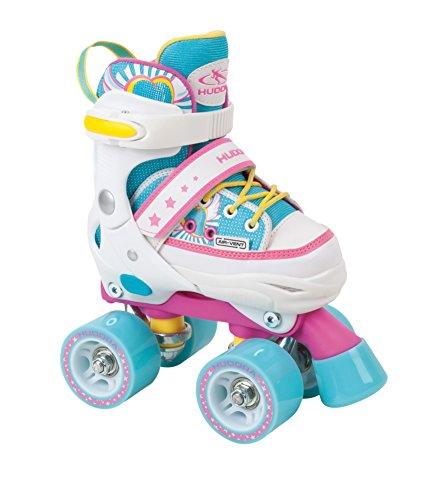 HUDORA Rollschuhe Kinder Mädchen Skate Wonders - verstellbar, Roller-Skates, Disco-Roller, Gr. 32-35,...