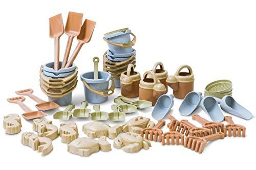 Dantoy Bio PLAST Sandset 50 TLG. - aus Biokunststoff (90% Zuckerrohr) / verpackt im DEKO Karton