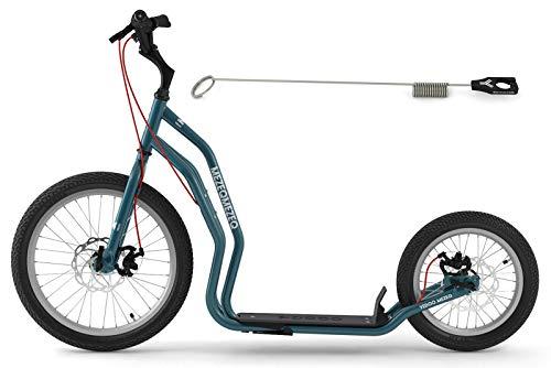Dogscooter Yedoo Mezeq Scooter RunRun 20/16 Zoll blau Offroad-Reifen Tretroller für Erwachsene und...