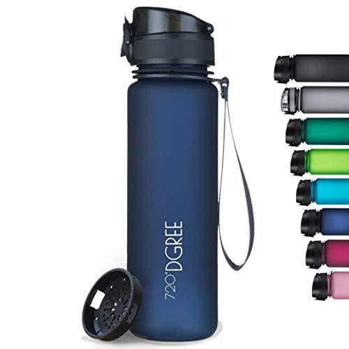 """720°DGREE Trinkflasche """"uberBottle"""" softTouch +Sieb - 1L - BPA-Frei - Wasserflasche für Uni, Sport,..."""