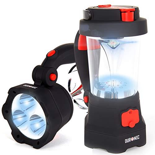 Duronic Hurricane Taschenlampe - Dynamo Laterne/Outdoor Taschenlampe/Kurbeltaschenlampe, wiederaufladbar-...
