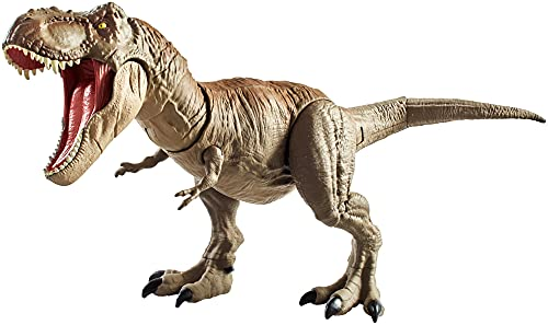 Jurassic World GNH34 - Dinosaurier Spielzeug Dino Rivals Superbiss-Kampfaction Tyrannosaurus Rex,...