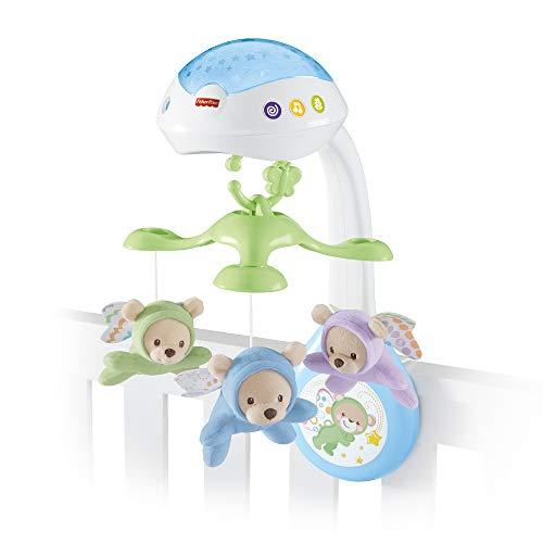 Fisher-Price CDN41 - 3 in 1 Traumbärchen Baby Mobile mit Spieluhr, Nachtlicht, White Noise und...