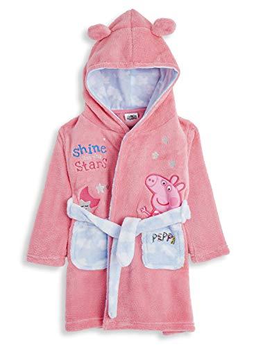 Peppa Pig Morgenmantel Für Mädchen, Hell-pink Und Blau Mädchen Peppa Wutz Morgenmantel Weich Und Super...