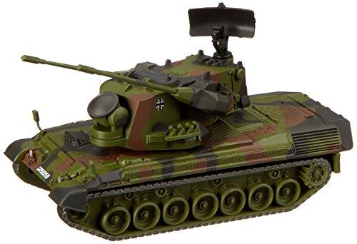 Schuco 452635500 Gepard Flakpanzer Flecktarn Bundeswehr 1:87, Olive, Kamouflage, Maßstab