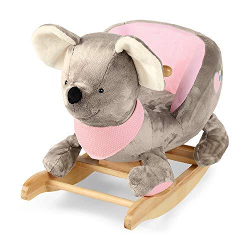Sterntaler Schaukeltier, Maus Mabel, Alter: 12-36 Monate, Grau/Mehrfarbig