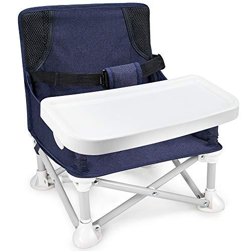 Mosbaby Kindersitz Babystuhl mit abnehmbarem Tablett, Tragbarer Reisen Boostersitz Sitzerhöhung für den...
