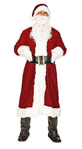 Nikolaus Weihnachtsmann Kostüm Set mit Mantel Nikolausmütze und Bart - Sehr schönes Komplettkostüm...