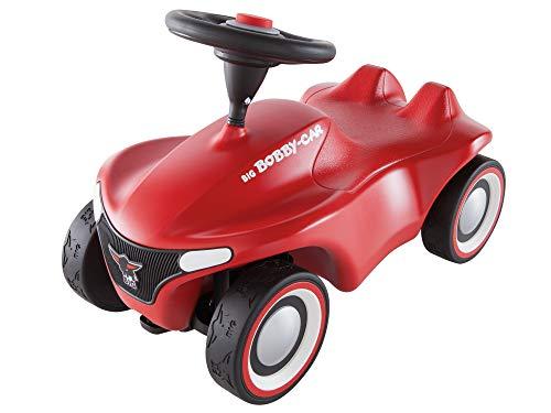 BIG-Bobby-Car-Neo Rot - Rutschfahrzeug für drinnen und draußen, Kinderfahrzeug mit Flüsterreifen im...