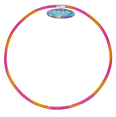 alldoro 63031 Hoop Fun Reifen Ø 72 cm, Hoopreifen mit 11 LEDs, Sportreifen für Sport, Fitness und...