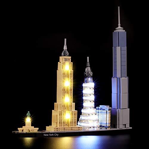 BRIKSMAX Led Beleuchtungsset für Lego Architecture New York City, Kompatibel Mit Lego 21028 Bausteinen...