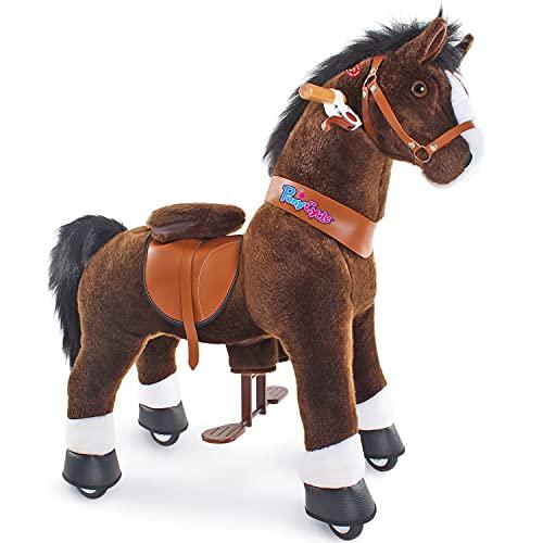 PonyCycle Offizielles authentisches Pferd Kinderreiten auf Spielzeug Kinderroller (mit Bremse und Sound/...