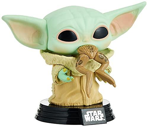 Funko 49932 POP Star Wars:The Mandalorian-The Child w/Frog Sammelbares Spielzeug, Mehrfarben