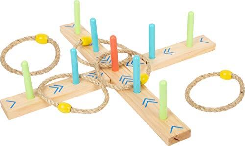 small foot 12035 Ringwurfspiel Active, aus FSC 100%-zertifiziertem Holz, Garten-Spiel für Kinder ab 3...