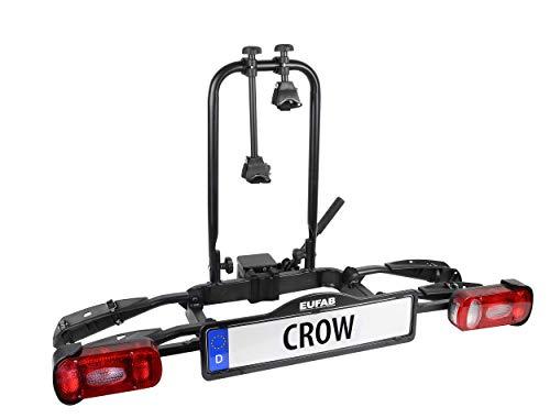 EUFAB 11563 Fahrradträger CROW, teilweise vormontiert, E-Bike geeignet