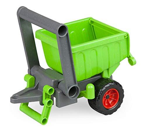 Lena 04214 EcoActives grün, Hänger ca. 20 cm für EcoAktives Traktor, Anhänger aus Kunststoff mit...
