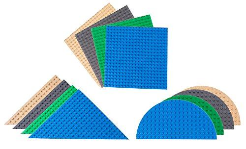 Strictly Briks - Premium-Bauplatten - dreieckig, halbrund, quadratisch - kompatibel mit Allen führenden...