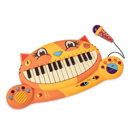 B. toys Meowsic Katzen Keyboard – Spielzeug Piano mit Mikrofon und Musik – Kinder Klavier Spielzeug...