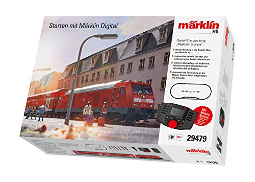 Märklin 29479 Digital-Startpackung Regional-Express, Spur H0 Modelleisenbahn, viele Soundfunktionen, mit...