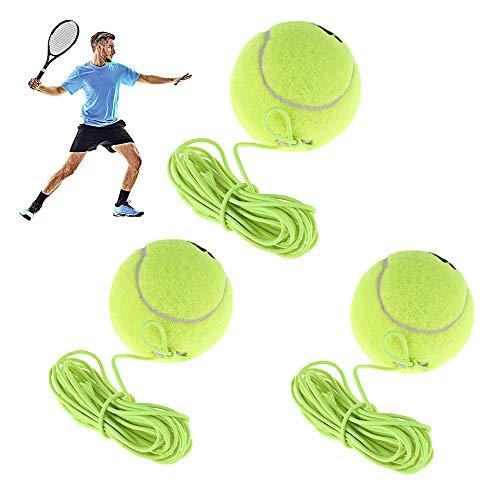 Tennis Trainer Ball,3 Stück Tennis Training Ball mit Schnur,Tennis mit Seil,Ideal für Tennisübungen im...