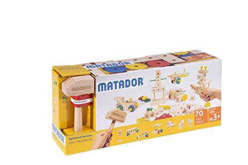 Matador M070 Baukasten, holzfarben, bunt
