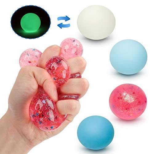 Fansteck Stressball Set [4er-Pack], Squishy Mash Ball / Anti-Stress-Bälle für Kinder und Erwachsene (4...