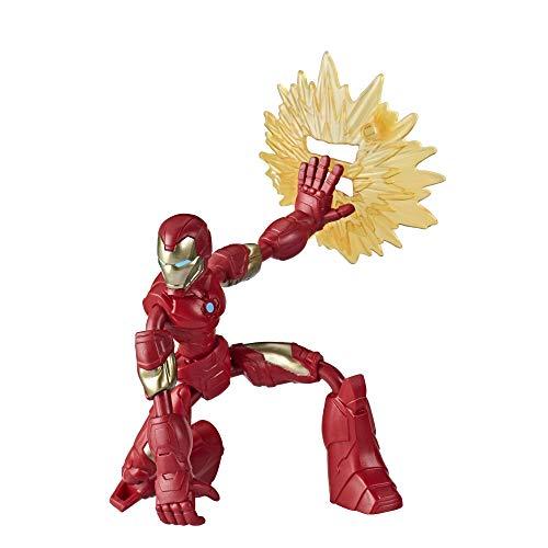 Hasbro Marvel Avengers Bend And Flex Action-Figur, 15 cm große biegbare Iron Man Figur, enthält ein...