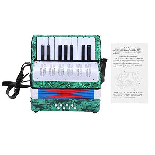 Tbest Kind Akkordeon 17 Key 8 Bass Kinder Mini Akkordeon Musical Spielzeug Akkordeon Kinder Anfänger...